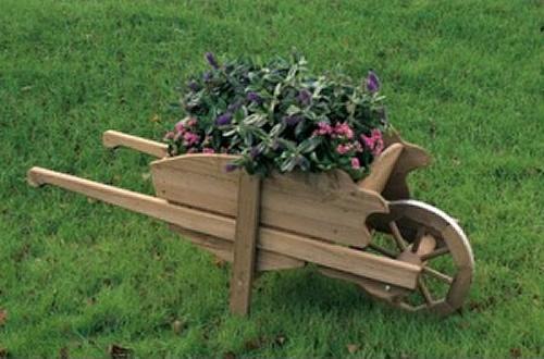 fioriere carriola in legno pontoni legnami srl