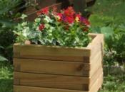 Fioriera BASIC in legno assemblata 40x40