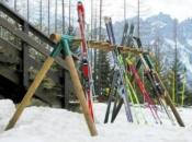 Porta sci in legno 18 posti