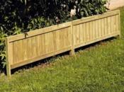 Recinzione chiusa in legno preassemblato per bordure e delimitazioni