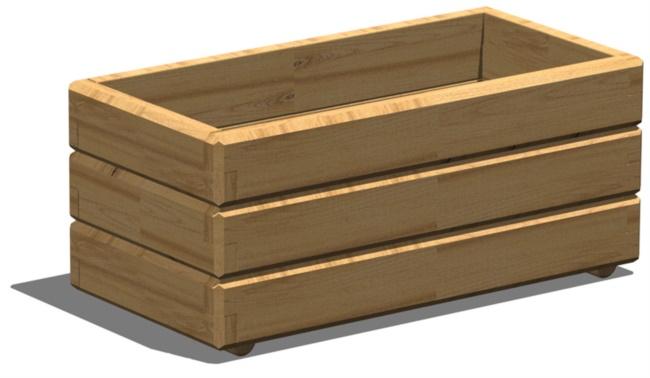 Fioriera in legno da giardino
