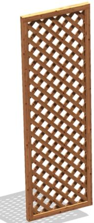 Grigliato da terrazzo in legno maglia 5