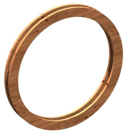 OBLO' tondo in legno per decoro glrigliato