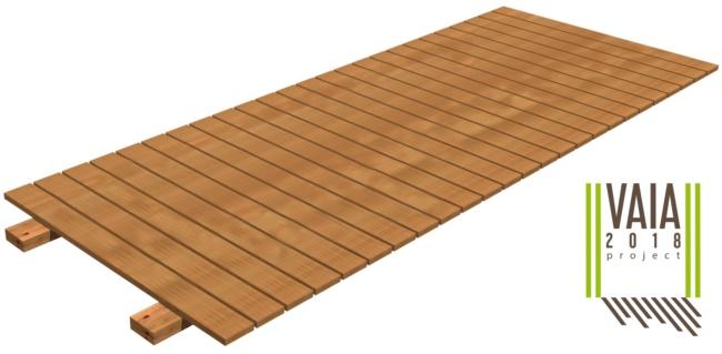 Passerelle per spiagge in legno