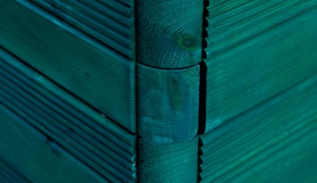 Fioriera Legno colorata verde